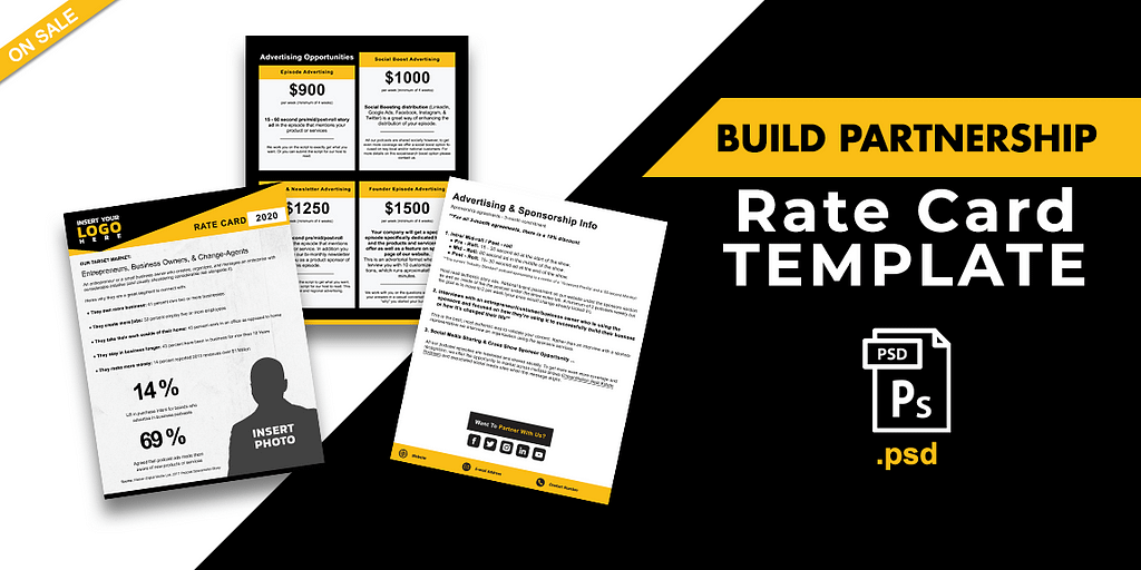 Your Partnership Rate Card Template