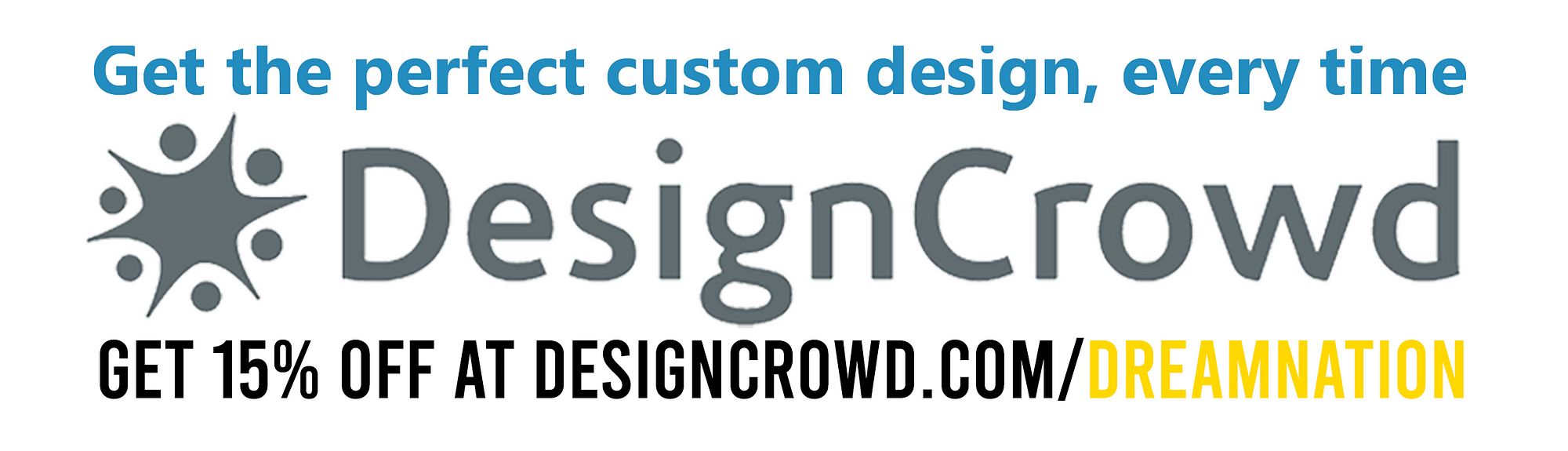 Get 15% off at Designcrowd today!